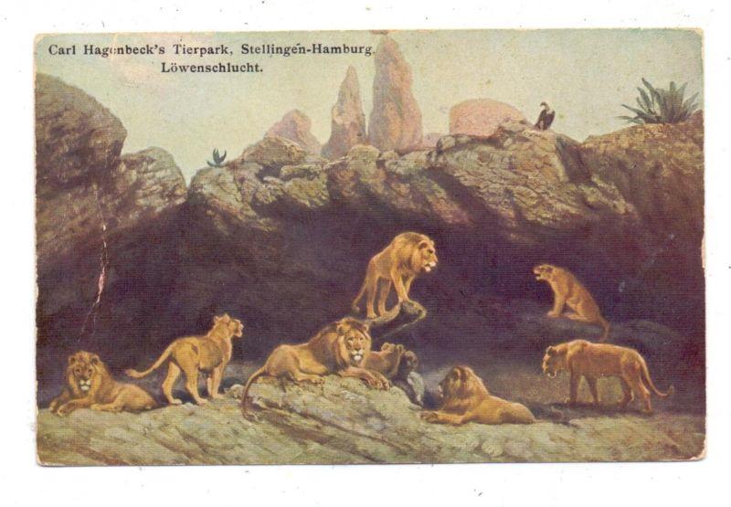 2000 HAMBURG - STELLINGEN Hagenbeck, Zoo,Löwenschlucht, Druckstelle