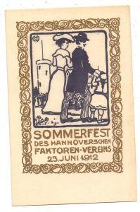 3000 HANNOVER, Sommerfest des Hannoverschen Faktoren-Vereins, 1912, Künstler-Karte