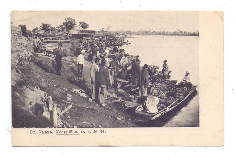 RU 692500 USSURIJSK, angelandete Fischer, 1905