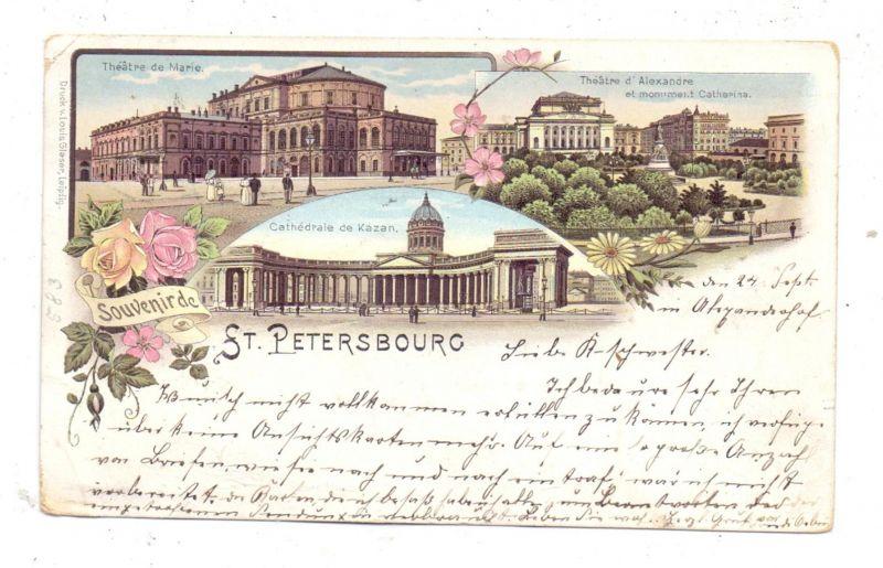 RU 190000 SANKT PETERSBURG, Lithographie 1896