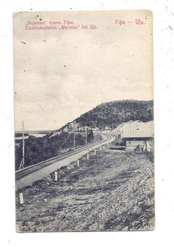 RU 450000 UFA, Eisenbahnstation Woronko, La Gare, 1914