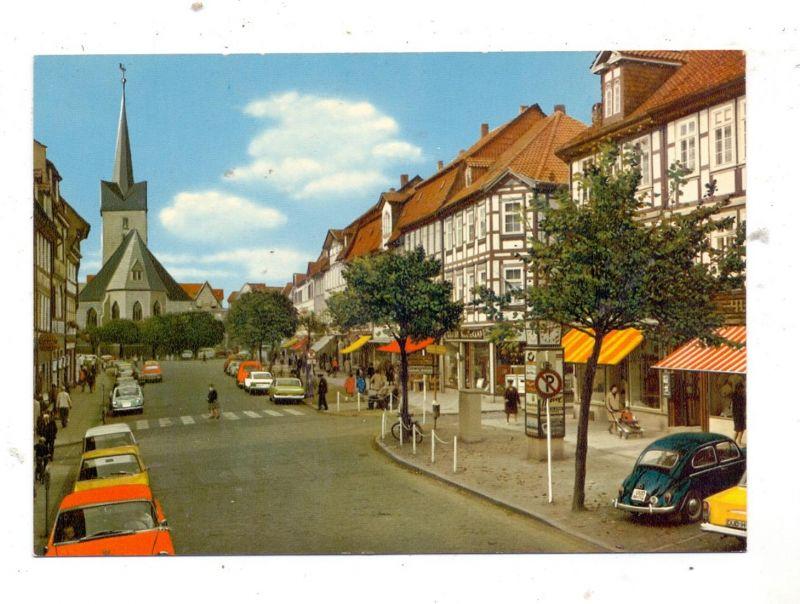 3408 DUDERSTADT, Eichsfeld, Marktstrasse und St. Servatiuskirche, VW Volkswagen Käfer 0