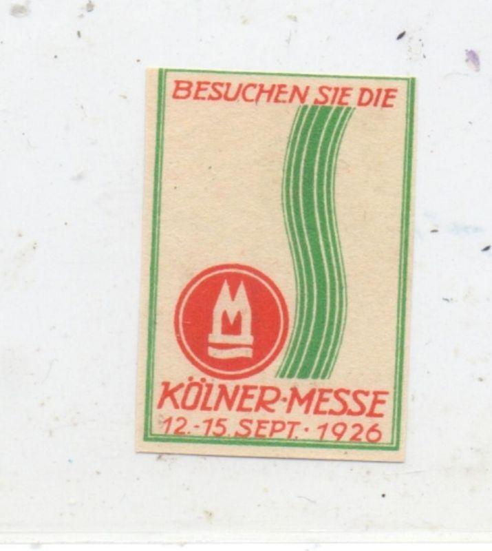 5000 KÖLN, EREIGNIS, Kölner Messe 1926, Vignette 0