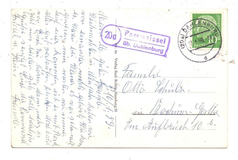 3139 GÖHRDE, Oberförsterei, Ortseingang.., Landpoststempel