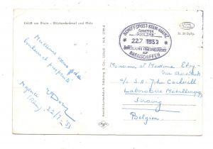 BINNENSCHIFFE - RHEIN, Schiffspost Köln - Mainz, Köln-Düsseldorfer, Dampfer GOETHE, 1953