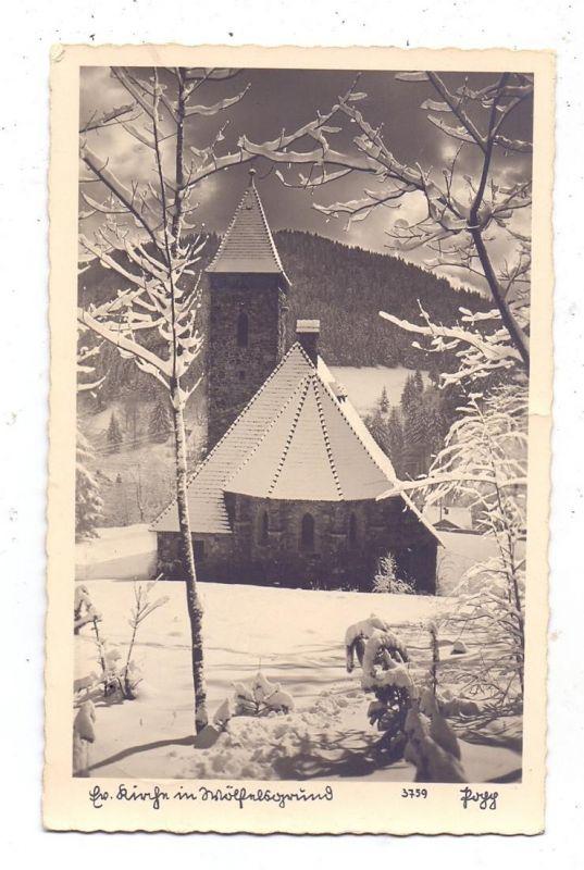 NIEDER - SCHLESIEN - WÖLFELSGRUND / MIEDZYGORZE, evangelische Kirche, 1942