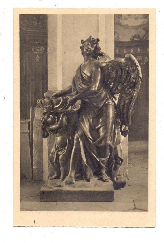 NIEDER - SCHLESIEN - GRÜSSAU / KRZESZOW, Abteikirche, Engel mit Weihwasserbecken