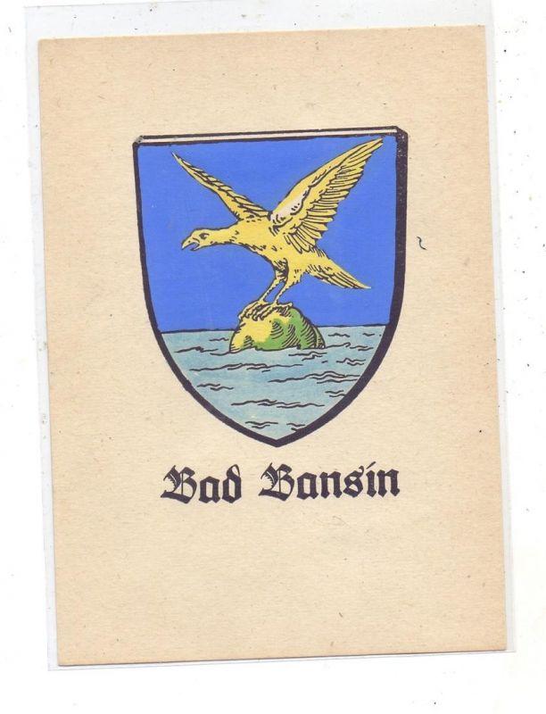 0-2253 BANSIN, Stadtwappen, keine AK-Einteilung 0