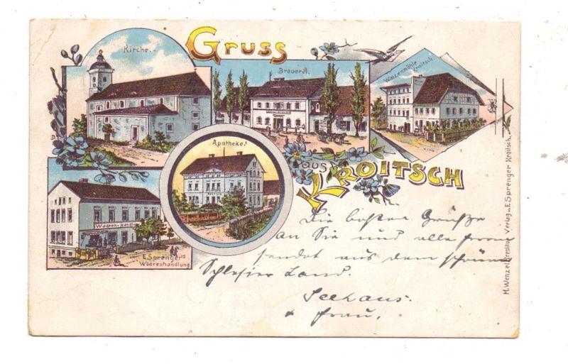 NIEDER - SCHLESIEN - KROITSCH / KROTOSZYCE, Lithographie, Brauerei, Walzenmühle, Apotheke, Waarenhandlung, Kirche 0