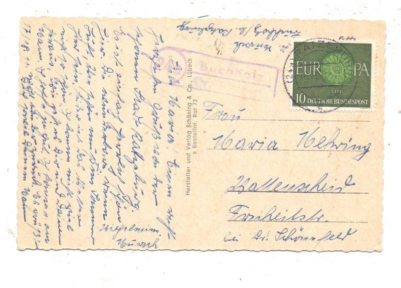 2418 RATZEBURG, Mehrbild-AK, Landpost-Stempel