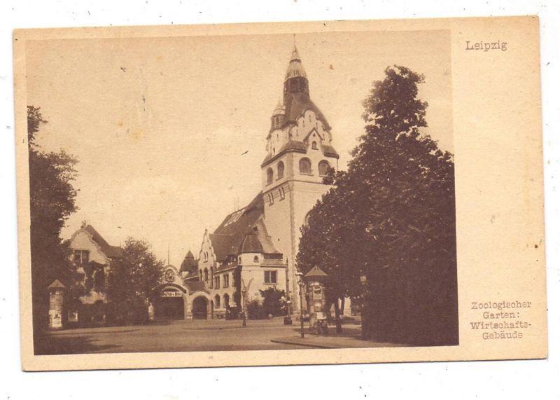 0-7000 LEIPZIG, Zoo, Wirtschafts-Gebäude, 1924 0