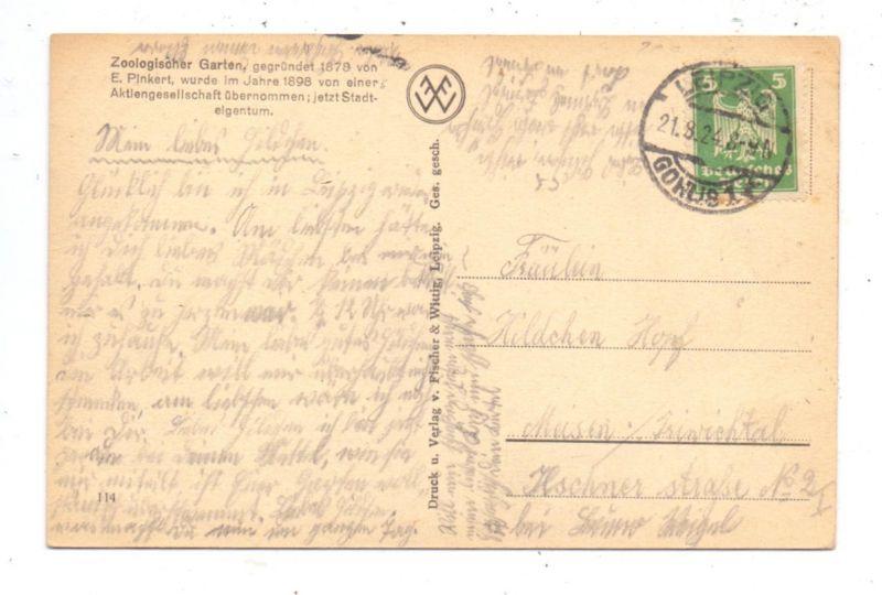 0-7000 LEIPZIG, Zoo, Wirtschafts-Gebäude, 1924 1