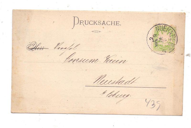 8500 NÜRNBERG, Buttersiederei Gebrüder Dessauer, 1887, frühe Karte, gute Erhaltung 1