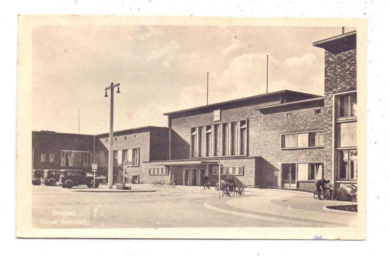 NIEDER - SCHLESIEN - GLOGAU / GLOGOW, Neuer Bahnhof