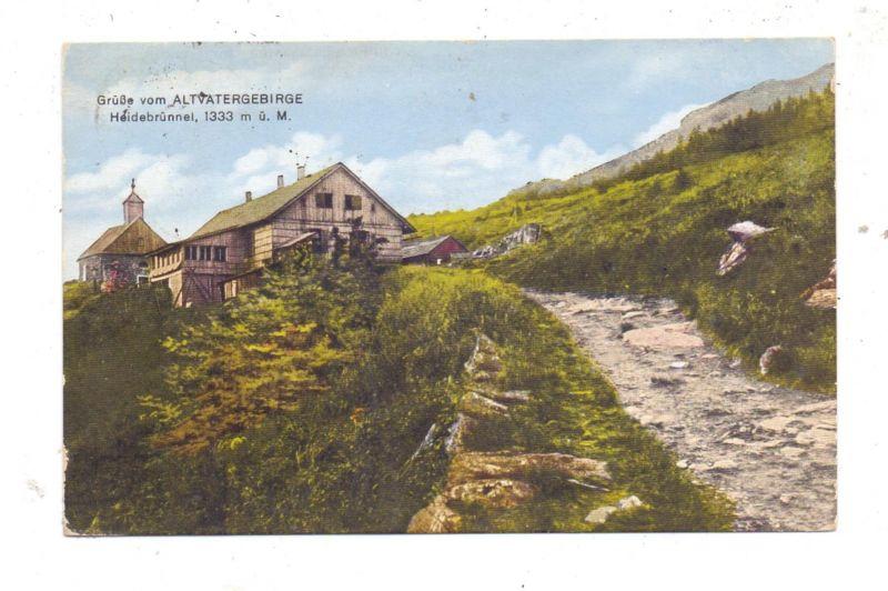 BÖHMEN & MÄHREN - WIESENBERG - WINKELSDORF, Heidebrünnel am Roten Berg,Wallfahrtskapelle, 1946 zerstört