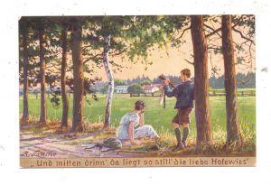 0-8000 DRESDEN, Dresdner Heide, Hofewiese, Künstler-Karte Trache