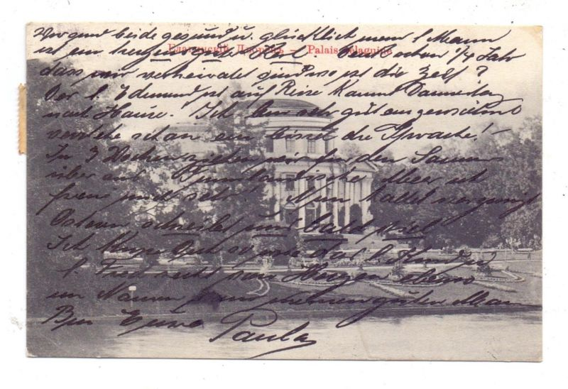 RU 190000 SANKT PETERSBURG, Jelagin-Palais, 1908