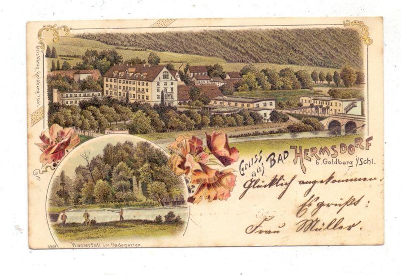 NIEDER - SCHLESIEN - BAD HERMSDORF / JERZMANICE ZDROJ, Lithographie, Lithographie 1899