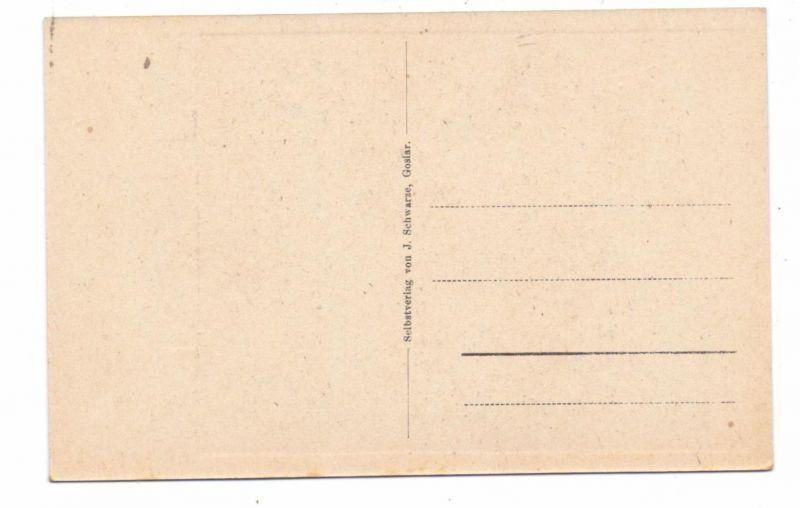 3380 GOSLAR, Alt-Goslar, Künstler-Karte J.Schwarze, Kaiserworth mit Marktbecken, min. fleckig 1