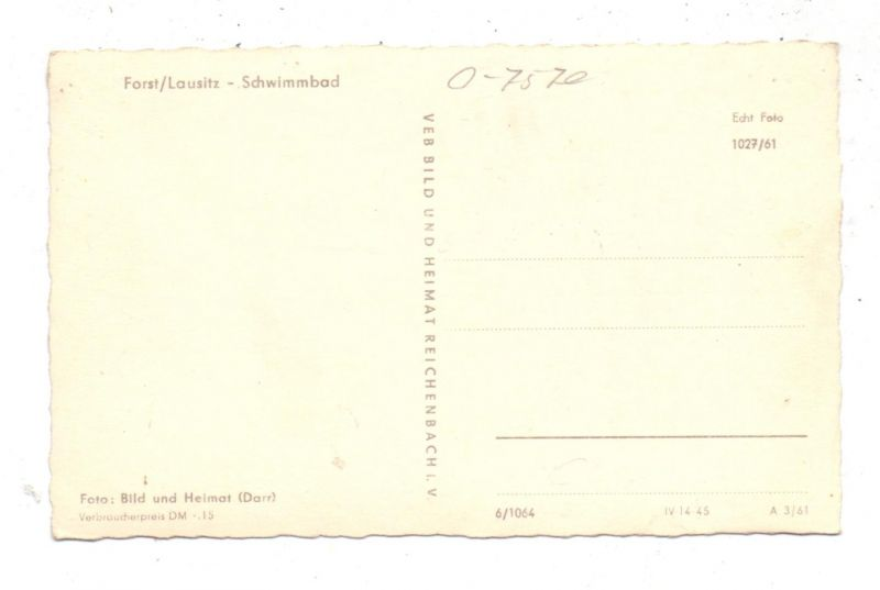 0-7570 FORST / Lausitz, Schwimmbad, 1961 1