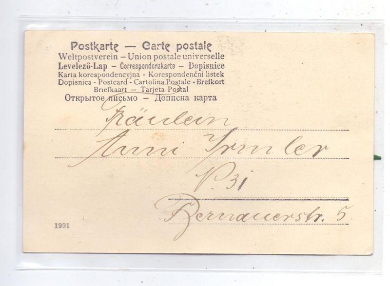 MATERIAL-AK - FEDERN, Vogel aus Echtfedern, 1904, sehr gute Erhaltung 1