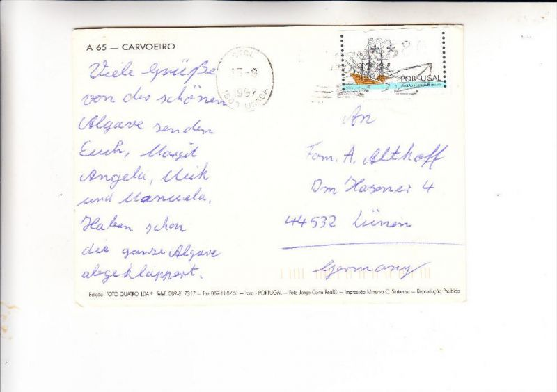 PORTUGAL, 1997, ATM Michel 15