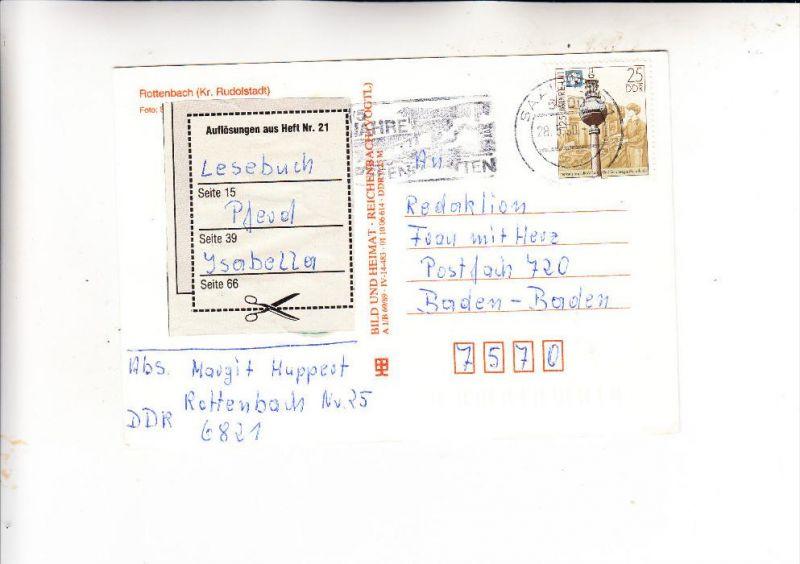 DDR, 1990, Michel 3334, AK-Einzelfrankatur