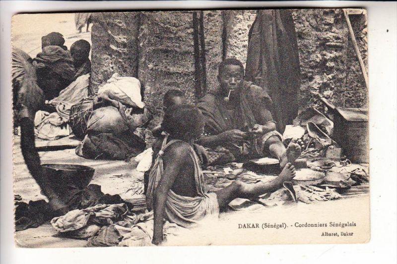 SENEGAL - DAKAR, Cordonniers Senegals, Schuhmacher/Schuster, Shoemaker, 1912