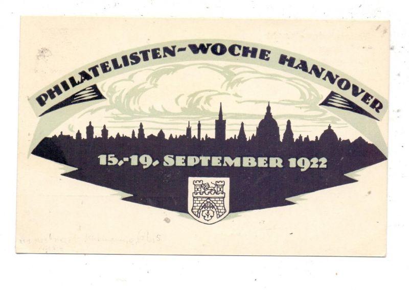 DEUTSCHES REICH - 1922, PRIVAT-GA PP61, Philatelisten-Woche Hannover