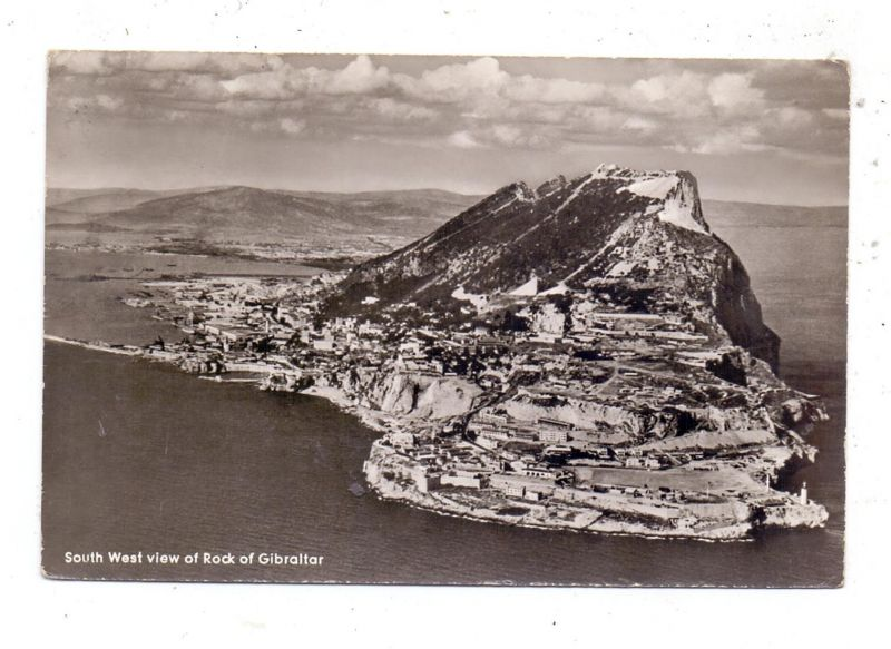 GIBRALTAR - South West view of Rock of Gibraltar, 1961