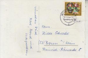 BUND, Wohlfahrt 1962, Michel 385 EF, 23.12.62 Wesseling Bz. Köln, aptiert