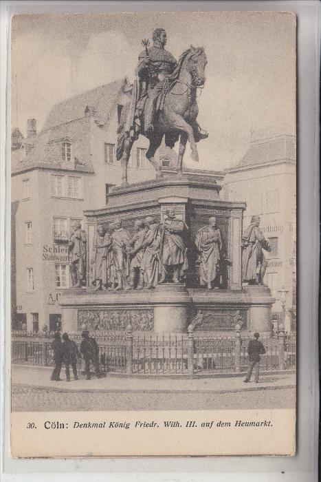 5000 KÖLN, Heumarkt, Kaiser Friedrich Wilhelm III Denkmal