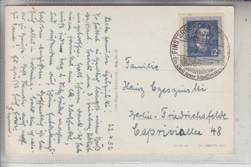 DDR 300, Einzelfrankatur, 22.4.1952 von Finsterbergen nach Berlin