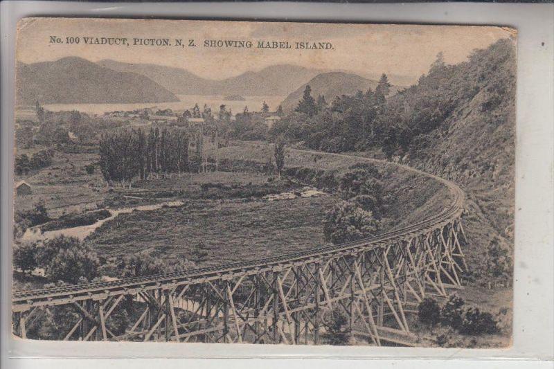 NZ - NEW ZEALAND / Neu Seeland - PICTON, Viaduct, Mabel Island
