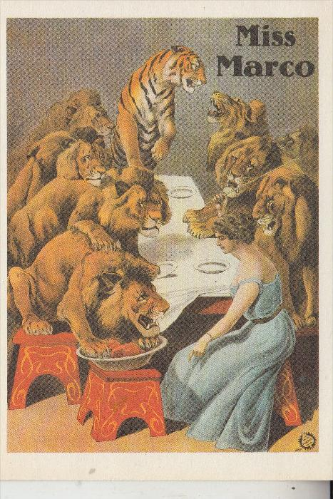 ZIRCUS - CIRCUS, Miss Marco, Löwen-Tiger-Dompteuse - Repro