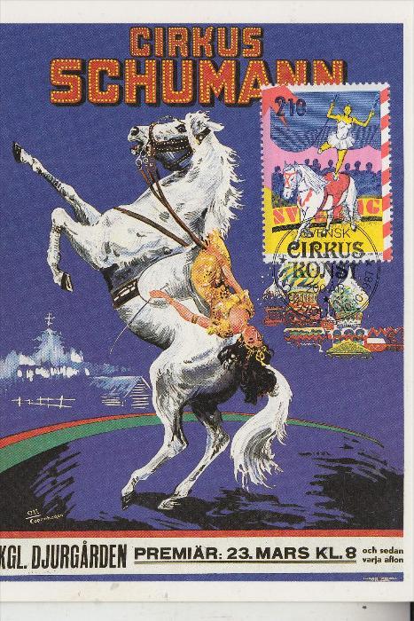 ZIRCUS - CIRCUS, -.Cirkus Schumann - Maximum-Karte Schweden