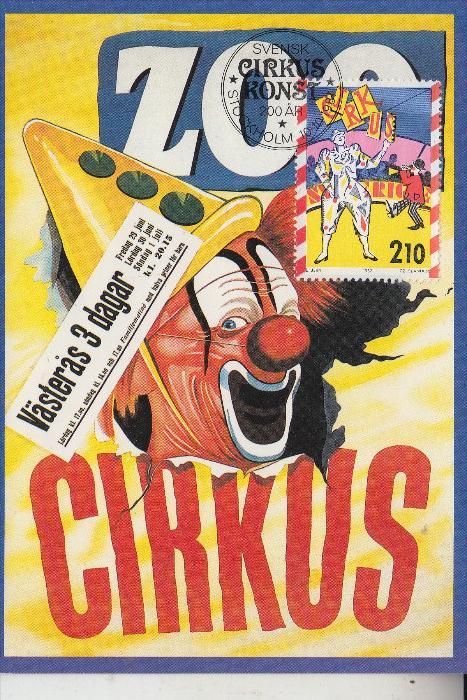 ZIRCUS - CIRCUS, -.Trolle Rhodins Zoo Circus - Maximum-Karte Schweden