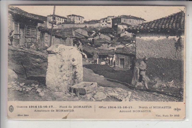 MAZEDONIEN - BITOLA / MONASTIR, franz. WK 1 Karte