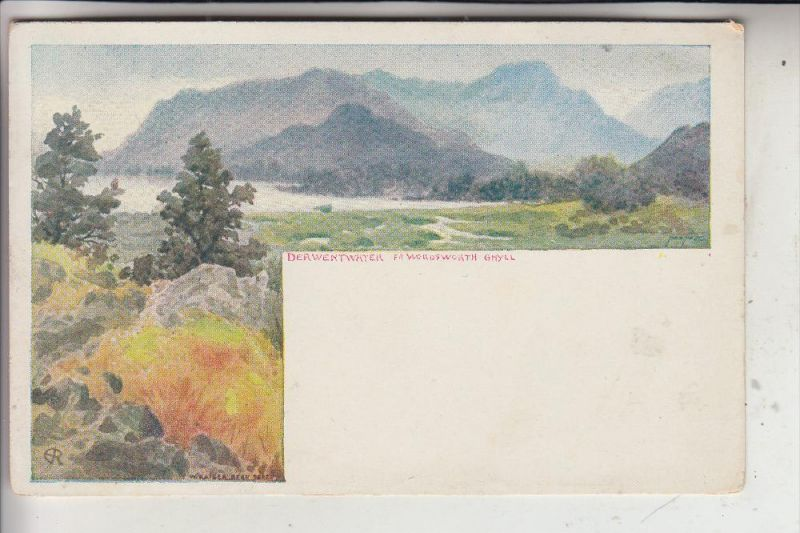 UK - ENGLAND - CUMBRIA - DERWENTWATER, Artist W.Kaiser Bern, early-card - undivided back