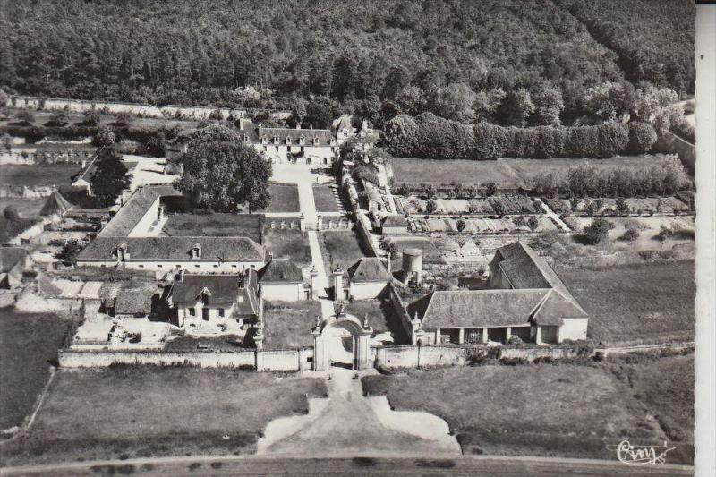 F 37460 CHEMILLE-SUR-INDROIS, La Chartreuse du Liget, vue airienne, CIM-Macon