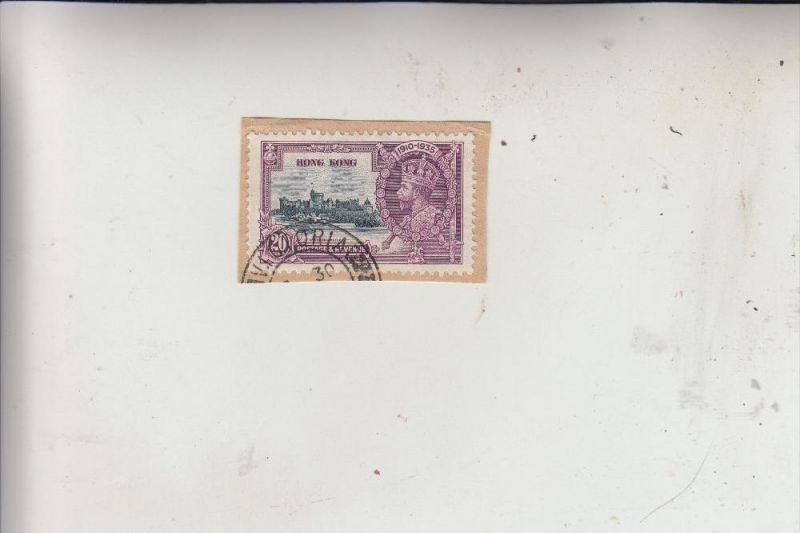 HONGKONG, 1935, Michel 135 auf Briefstück