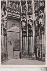 5000 KÖLN, KÖLNER DOM, die neue Tür von Prof. Matarè, 1956