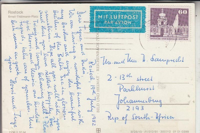 DDR, 2649, 1992 EF nach Südafrika