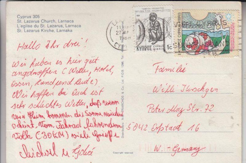 ZYPERN / CYPRUS, Michel 688, Einzelfrankatur nach Deutschland