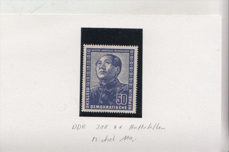 DDR Michel 288, 50 Pfg. Mao, ** mit Haftstellen