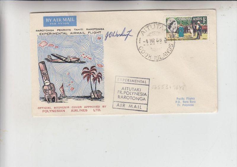 COOK ISLAND, 1966, AITUTAKI, Experimental Airmail