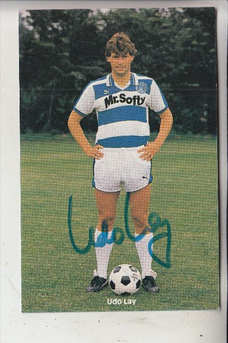 SPORT - FUSSBALL - MSV DUISBURG - UDO LAY, Autogramm