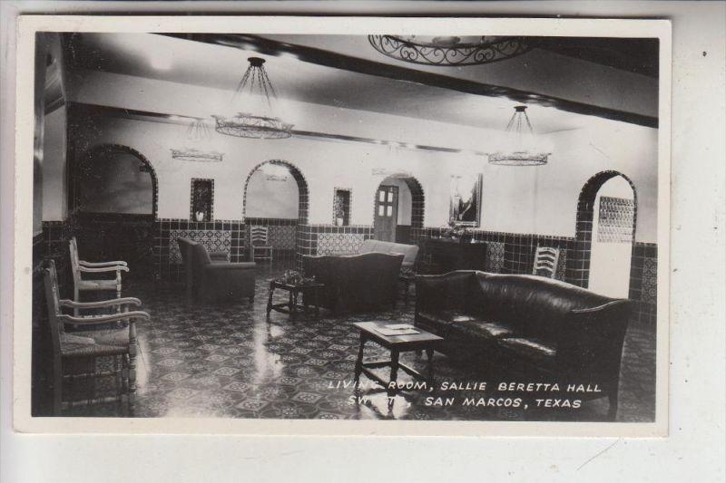 USA - TEXAS - SAN MARCOS - Sallie Beretta Hall, Living Room