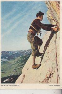 SPORT - BERGSTEIGEN, An der Felswand