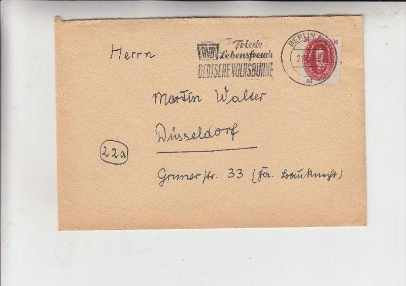 DDR, Michel 269, Leibniz, Einzelfrankatur, 2.11.50 von Berlin nach Düsseldorf